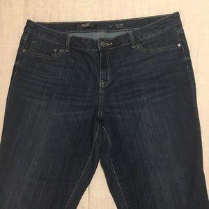 Simply Vera Wang Mid Rise Capri Jeans